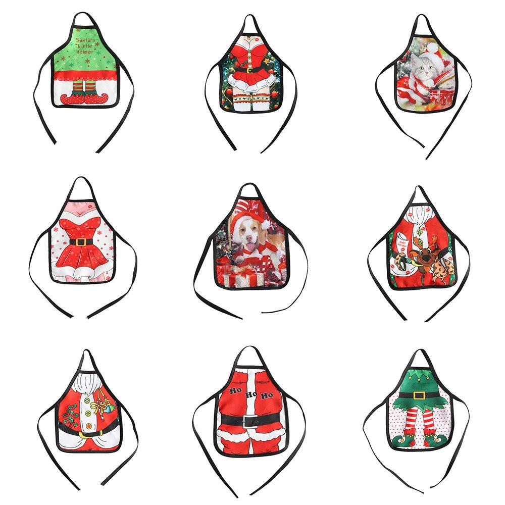 1 St Nieuwe Mode Kerst Santa Wijnfles Schort Cover Wrap Xmas Etentje Servies Decor Home & Living