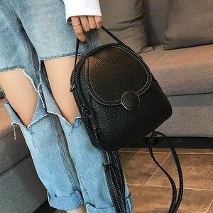 Image 4 - Mochila de couro feminina, nova mochila de couro feminina multifuncional com toque suave