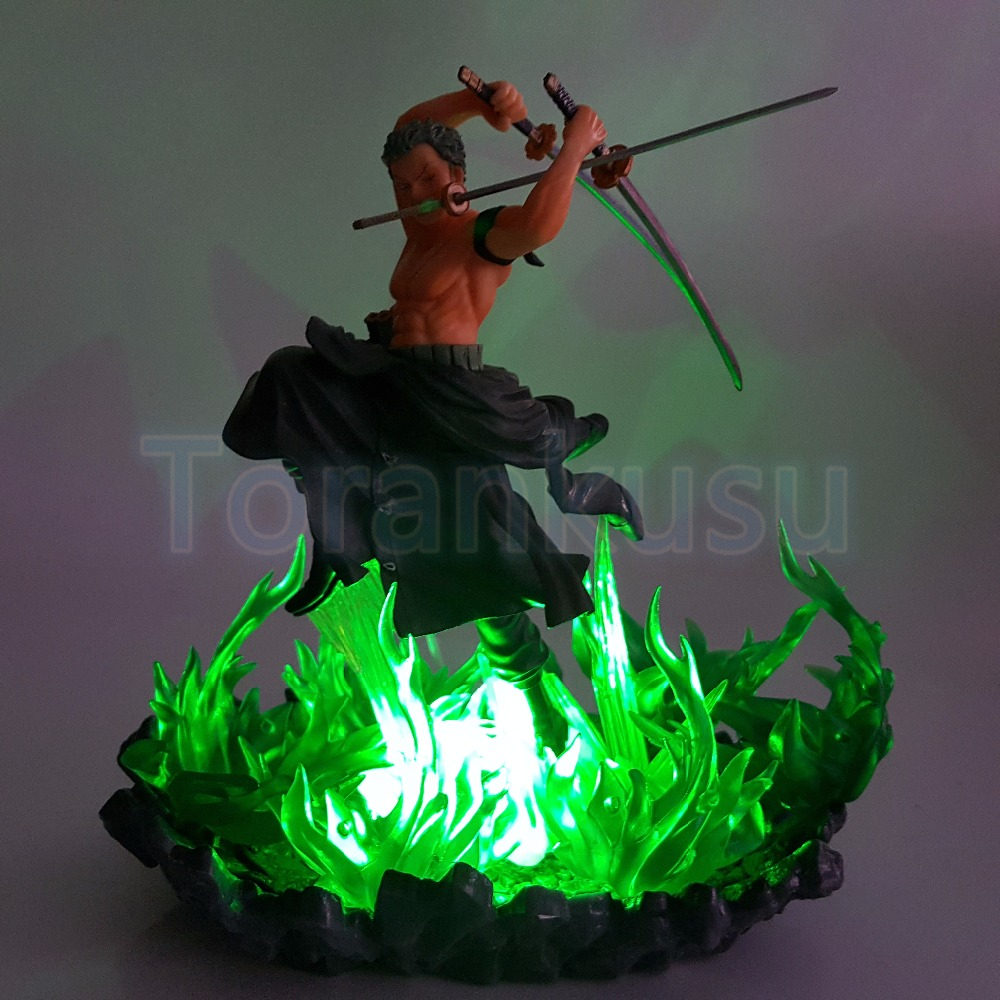 One Piece Action Figure Roronoa Zoro Figuarts ZERO Green Fire Base DIY Display Set One Piece Anime Zoro Figurine Diorama DIY174 one piece action figure roronoa zoro led light figuarts zero model toy 200mm pvc toy one piece anime zoro figurine diorama