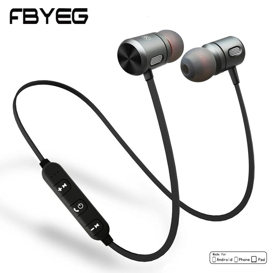 FBYEG C10 Bluetooth Kopfhörer Drahtlose Kopfhörer Bluetooth sport Sweatproof Headset Magnetische Ohrhörer Mit Mic Für Telefon Xiaomi