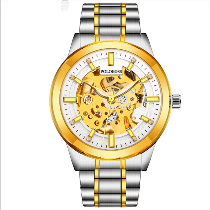 New top men's luxury business watch, stainless steel watch strap waterproof, fashionable high quality. цены