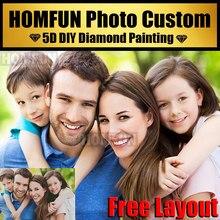 Homfun 5d diy pintura diamante foto personalizada privada faça seu próprio diamante pintura cheia diamante strass bordado