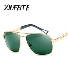 XINFEITE Brand 2017 Men's Vintage Driving Glasses Retro Green Lens Driver Polarized Sunglasses Male Shadow Sun Oculos Hot Sale