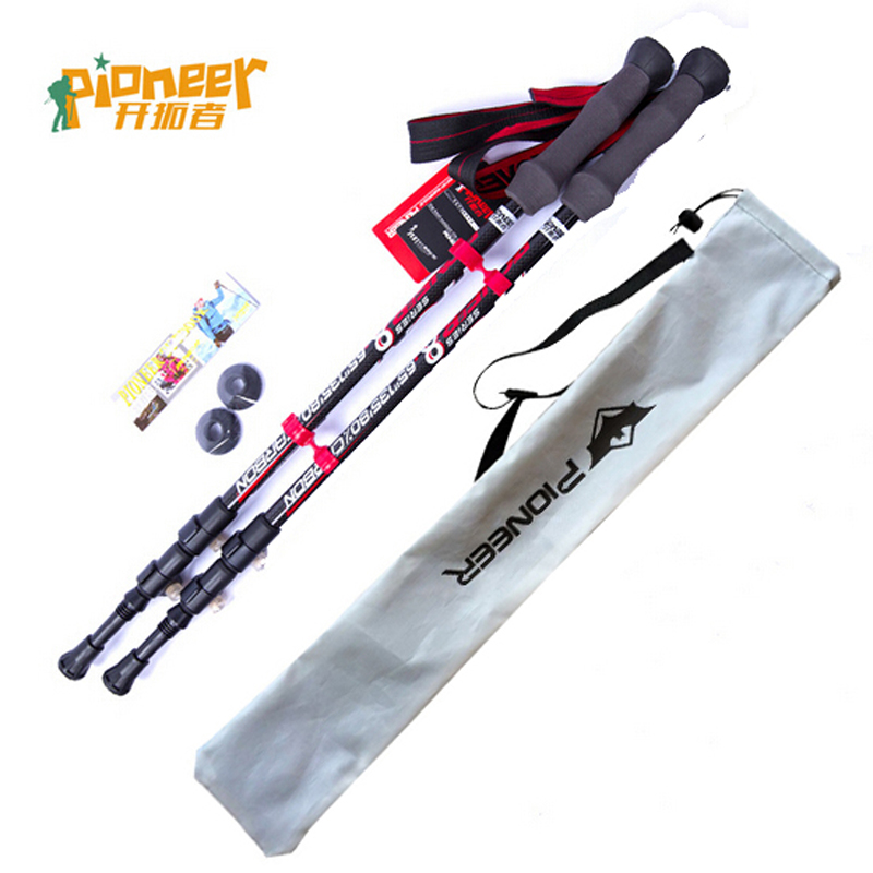 Nordic Walking Stick Ultra-light 3 Carbon Fiber Telescopic Trusty Cane Climbing Equipment Hiking Sticks Trekking Poles 62-135cm m 860 uhf 8 channel 2 way radio twin walkie talkies