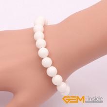 8mm Sea Shell Bracelet Natural Shell Bracelet DIY Bracelet Ajustable Elastic Rope For Party For Gift Free Shipping Wholesale !!