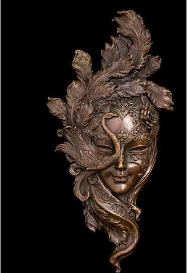 Art Deco Sculpture Woman Face Mask Wall Ornamentation Bronze Statue 4 Style  Decoration Bronze Factory Outlets In Statues U0026 Sculptures From Home U0026 Garden  On ...