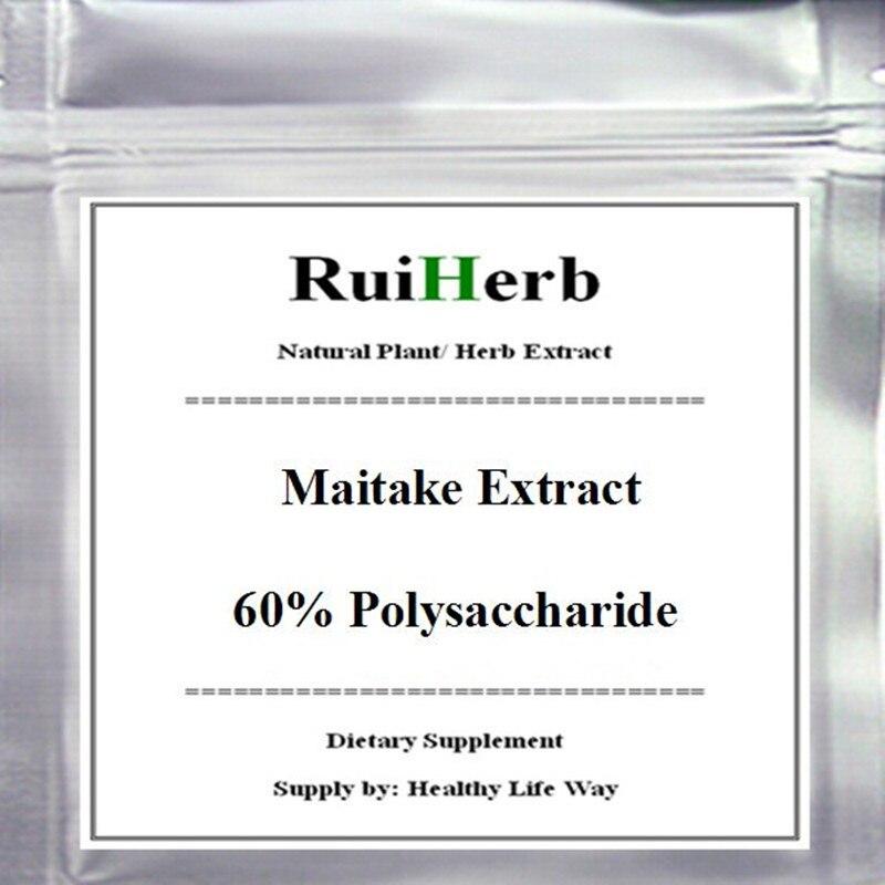 200gram Maitake Grifola Frondosa Extract 60% Polysaccharide Powder free shipping стоимость