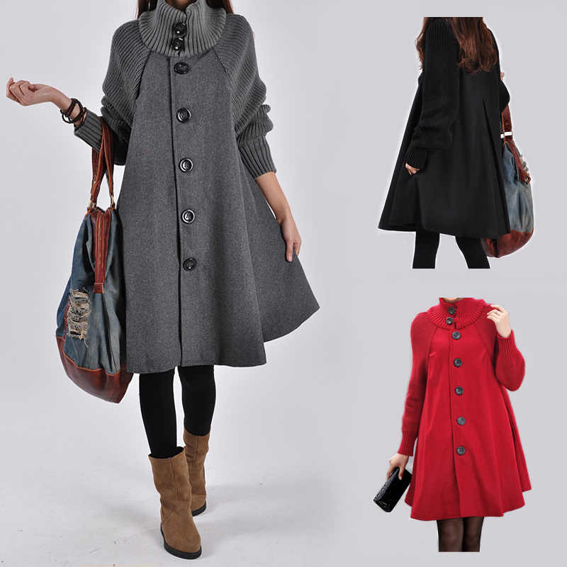 Women's coat maternity clothing Autumn Winter Plus Size Pregnancy Women Jackets Long Loose knitting clothing Women cloak