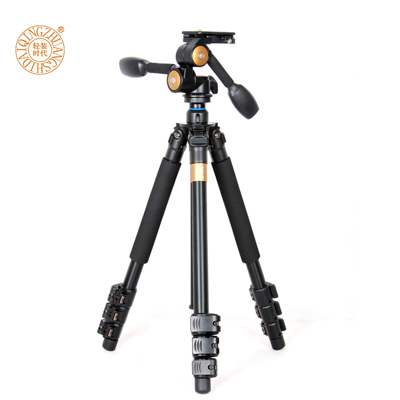 qzs470 155CM 3 way panhead 12kg load trepied photo aluminum video digital dslr camera tripod tripe celular for camcorder DV Q470 цены
