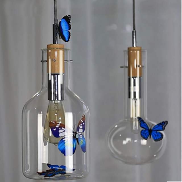 Pendant lighting glass shades cord pendant lamp test tube beaker pendant lighting glass shades cord pendant lamp test tube beaker wood cork clear glass bottle hanging aloadofball Images