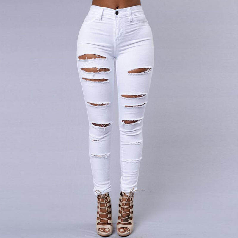 Popular Destroyed Skinny Jeans for Women-Buy Cheap Destroyed ...
