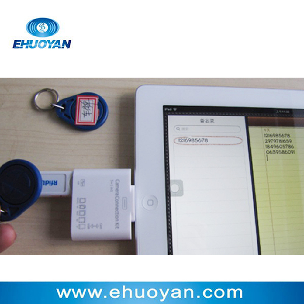 USB Dongle Emulate Keyboard 13.56Mhz ISO 14443 A  Rfid NFC Reader  Android IPad Tablet Mobile+2tags