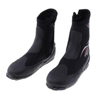 Unisex 5mm Premium Neopren Hallo Top Neoprenanzüge Zipper Boot Tauchen Stiefel Wasser Sport Schnorcheln Booties Schuhe für Männer Frauen