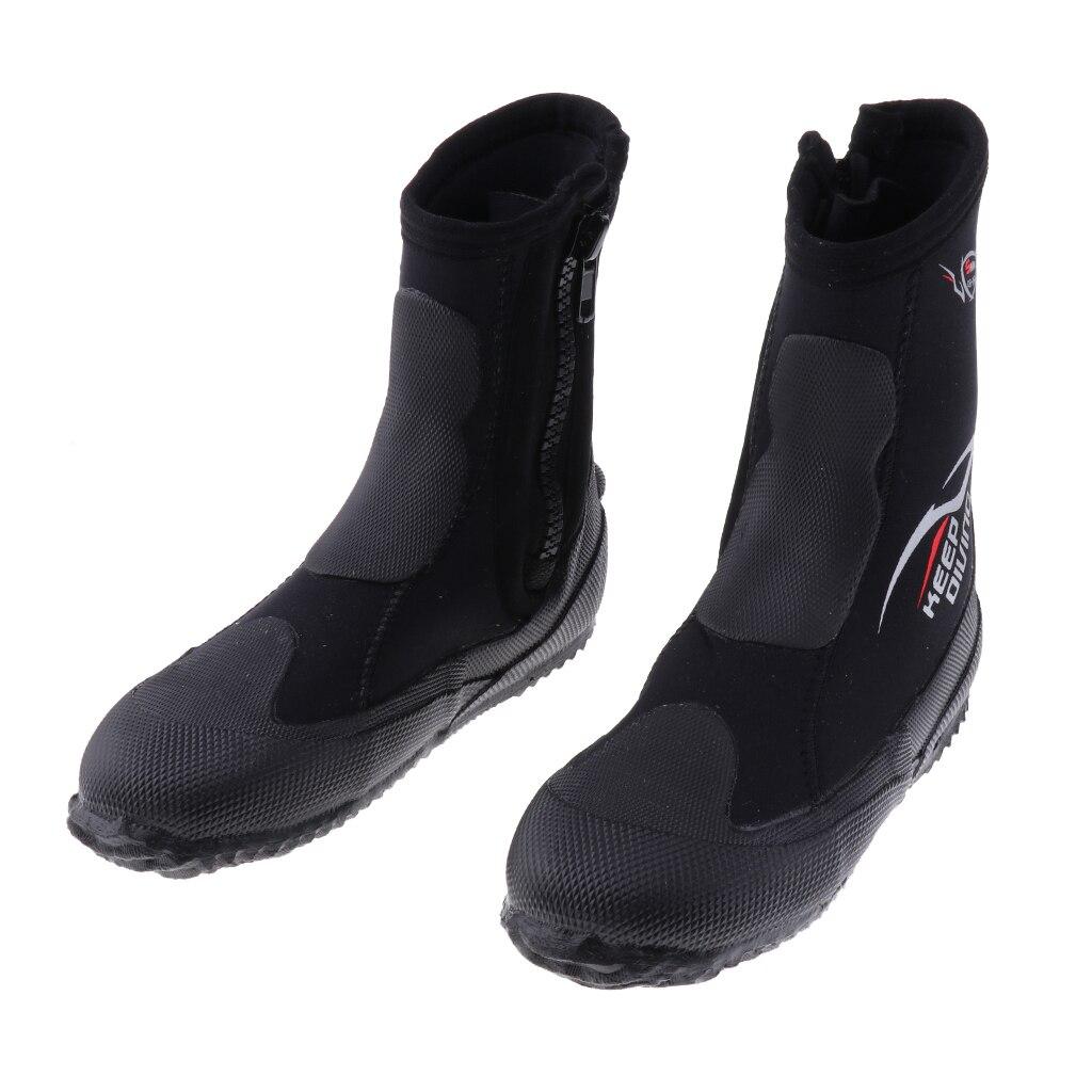 Unisex 5mm Premium Neoprene Hi Top Wetsuits Zipper Boot Diving Boots Water Sports Snorkeling Booties Shoes For Men Women