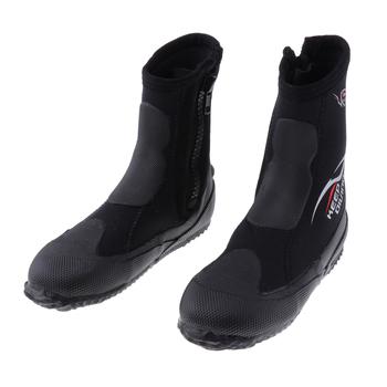 Unisex 5mm Premium neoprenu Hi Top kombinezony Zipper Boot buty do nurkowania sporty wodne buty do nurkowania buty dla mężczyzn kobiety tanie i dobre opinie perfeclan Normal Other Dla dorosłych