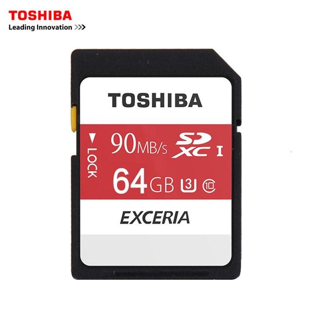 Toshiba Карты Памяти SD UHS U3 64 ГБ 90 МБ/с. 600x64 Г SDXC SD Card 64 ГБ SDXC Карты Flash Для Цифровых ЗЕРКАЛЬНЫХ Фотокамер Видеокамера Д. в.