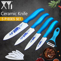 XYj Ceramic Knife Zirconia Kitchen Knife Cooking Set 3 4 5 6 Inch Peeler Covers Fruit