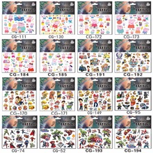 SHNAPIGN 420pcs / lot Dinosaurrobot Midlertidig Body Arts, Flash Tattoo Stickers 17 * 10cm, Vanntette Barn Elsker Toy Tatoo