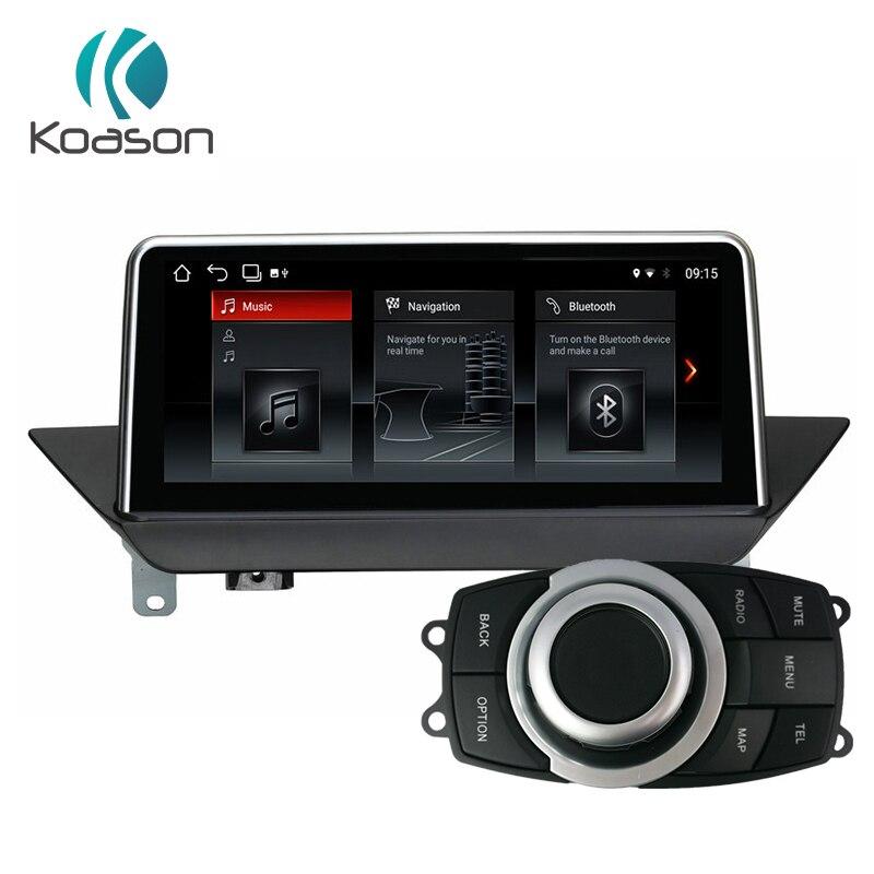 Koason android 8.1 GPS Navigation pour BMW X1 E84 2009-2015 Wifi, Bluetooth, radio, audio écran tactile, idrive De Voiture Lecteur Multimédia