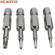 """NK MIXTOS Hot Sale 1PC Magnetic Triangle Screwdriver Bits 1/4"""" x 50mm Hex Shank S2 Steel Screwdriver Fast Shipping"""