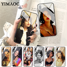 YIMAOC selena quintanilla Customer High Quality Glass Case for Huawei P10 lite P20 Pro P30 P Smart honor 7A 8X 9 10 Y6 Mate 20