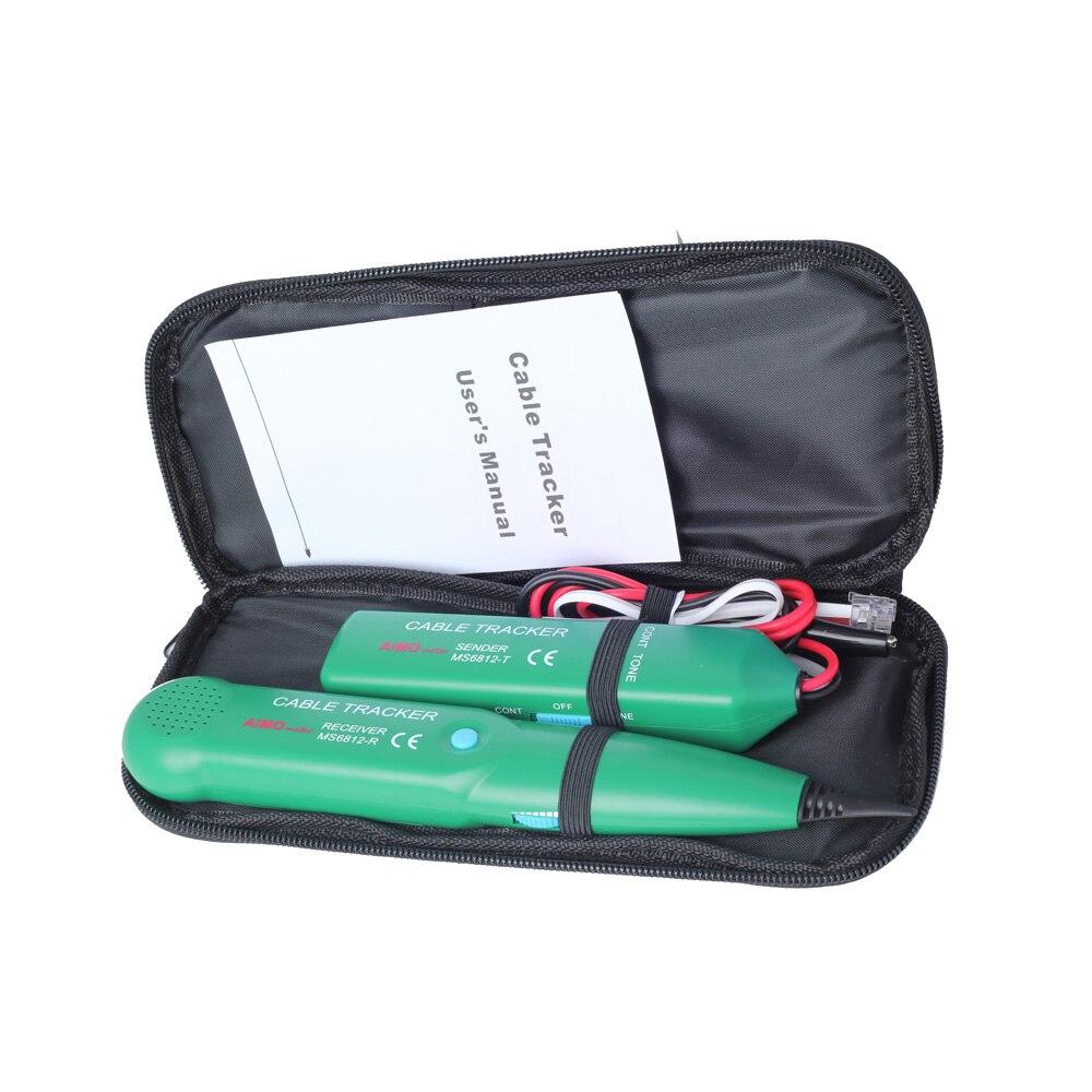 Original AIMO MS6812 téléphone fil Tracer UTP trousse à outils LAN réseau câble testeur ligne Finder avec pochette livraison gratuite