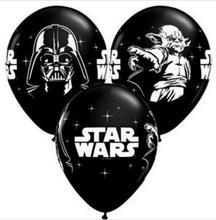 12 polegada 10 pçs/lote Preto Star Wars Tema Piratas Balão De Látex Decoração Do Partido Fontes do Partido de Aniversário Dos Miúdos Brinquedos