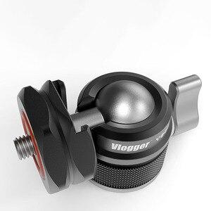 Image 5 - حامل جهاز مراقبة Vlogger مثبت 360 درجة داعم التخميد 90 درجة دعامة شاشة رأسية حامل حامل 1/4 برغي لأضواء LED للفيديو والميكروفون