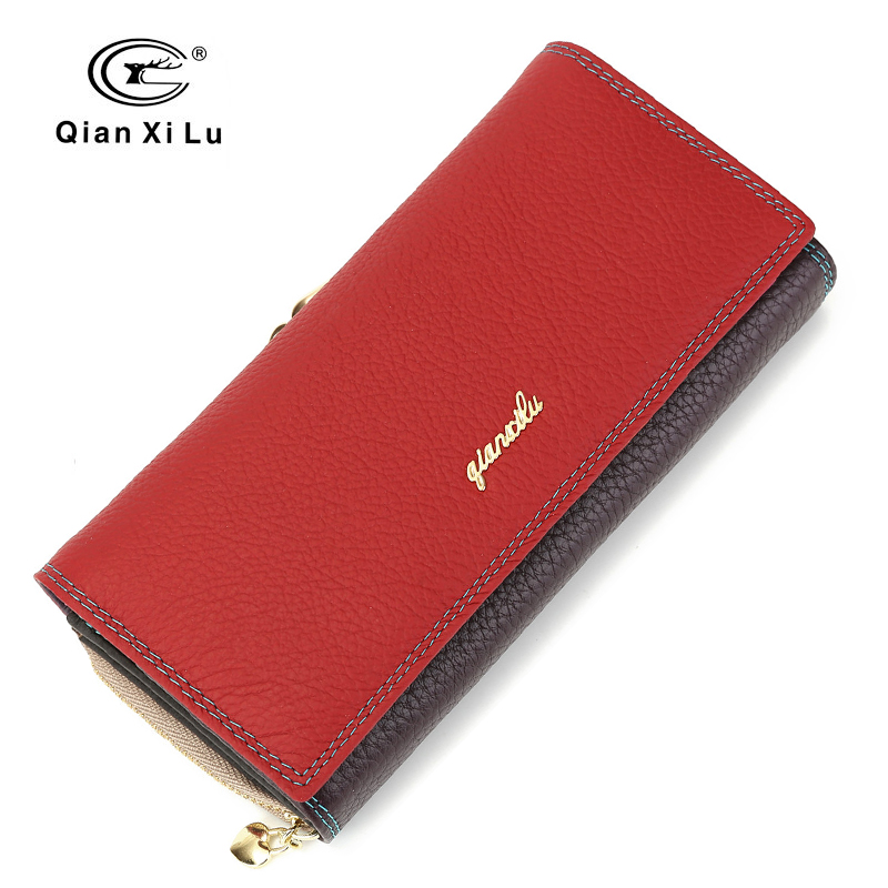 Fashion Brand Leather Women Phone Wallets High Quality Zipper&Hasp Coin Purse Female Long Card Holder Lady Casual Wallet high quality floral wallet women long design lady hasp clutch wallet genuine leather female card holder wallets coin purse