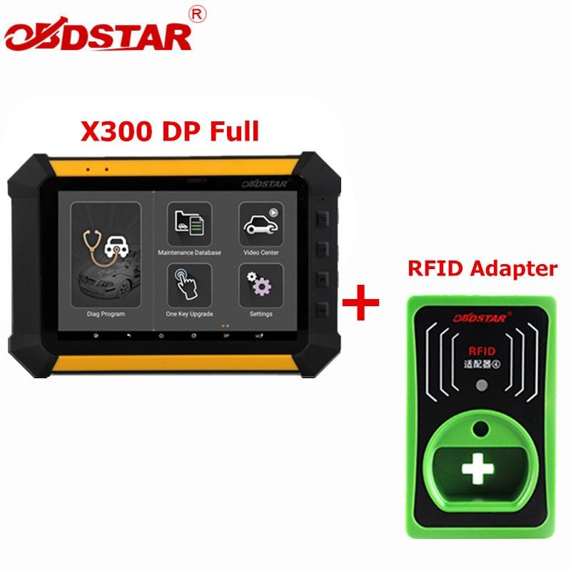 OBDSTAR X300 DP X-300DP PAD Tablet программист полной конфигурации диагностики авто инструмент X300 DP плюс RFID адаптер