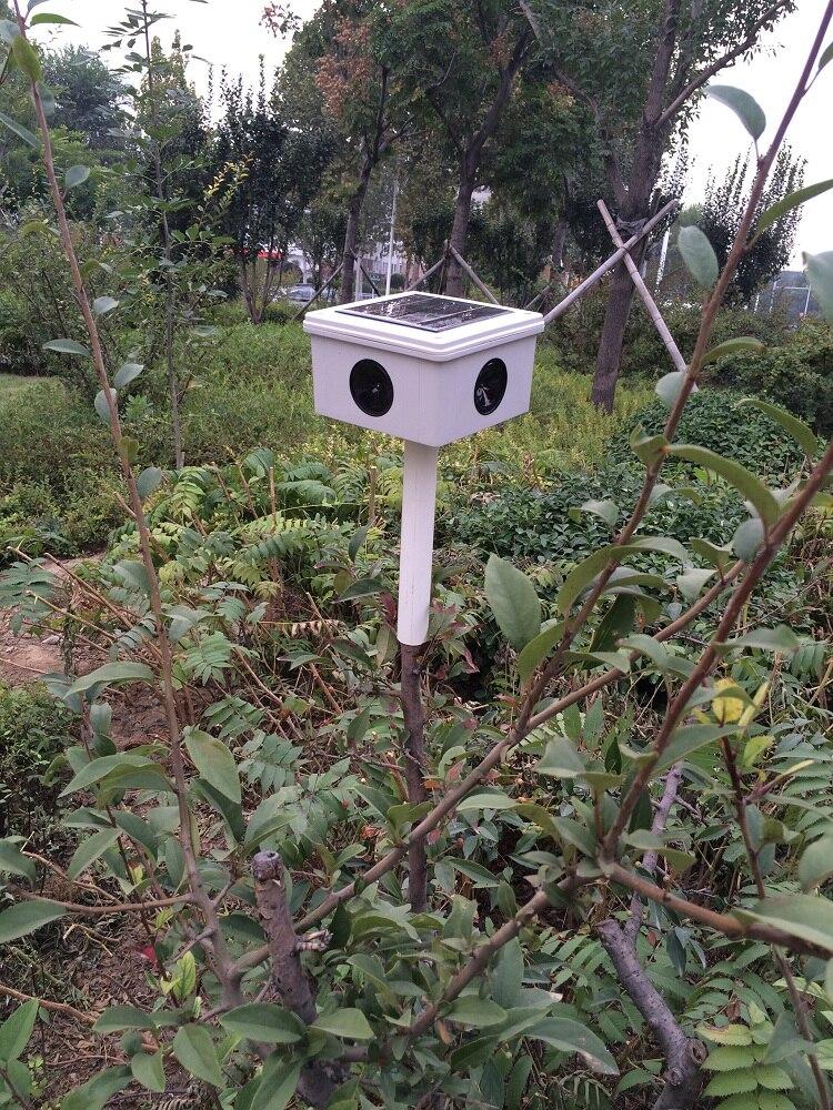 Solar Ultrasonic Sound Bird Repeller Anti-bird Devices Animal Bats Birds Repellent for Garden Farm Airport