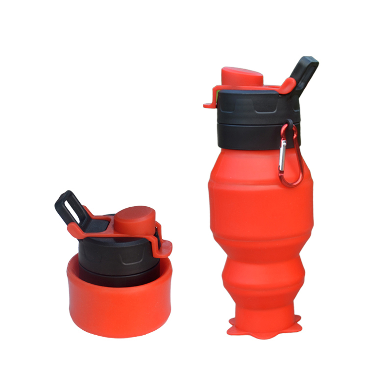 500ML Silicone Collapsible Water Bottles Foldable FDA FREE