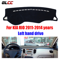 GLCC Car Dashboard Cover For KIA RIO 2011 2014 Years Left Hand Drive Dash Cover Mat