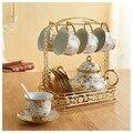 Домашний английский послеобеденный чайный набор  офисная простая кофейная чашка  керамические кружки  чайник  креативная гостиная  Европей...