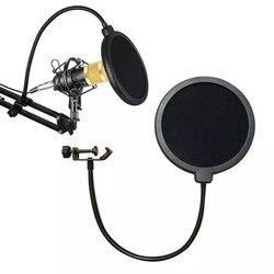 15cm microfone pop filtro dupla camada mic pop com montagem giratória 360 suporte flexível para azul yeti microfone gravação