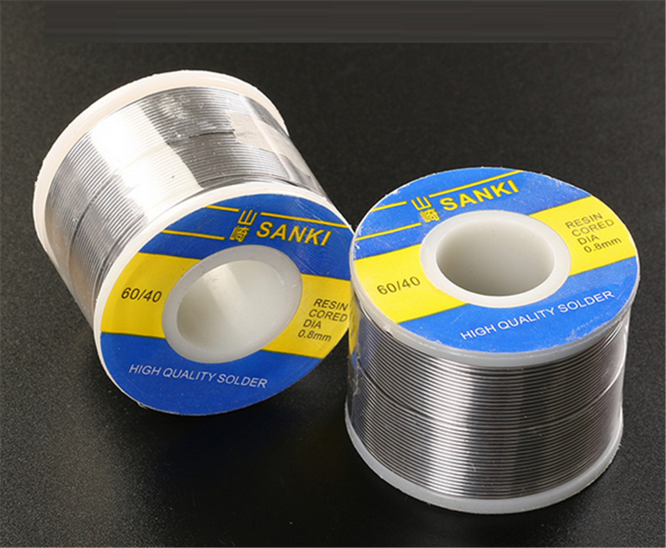 купить New Welding SANKI solder wire Reel 250g FLUX 2.0% 0.8mm 60/40 45FT Tin Lead Line Rosin Core Flux Solder Soldering Wholesale по цене 708.95 рублей