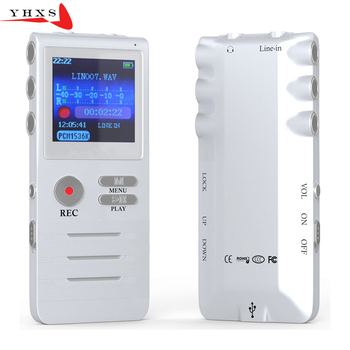 8GB Digital Voice Recorder with Double Microphone HD Recording Premium Metal Case Mic and Dictaphone USB MP3 Free Headphones