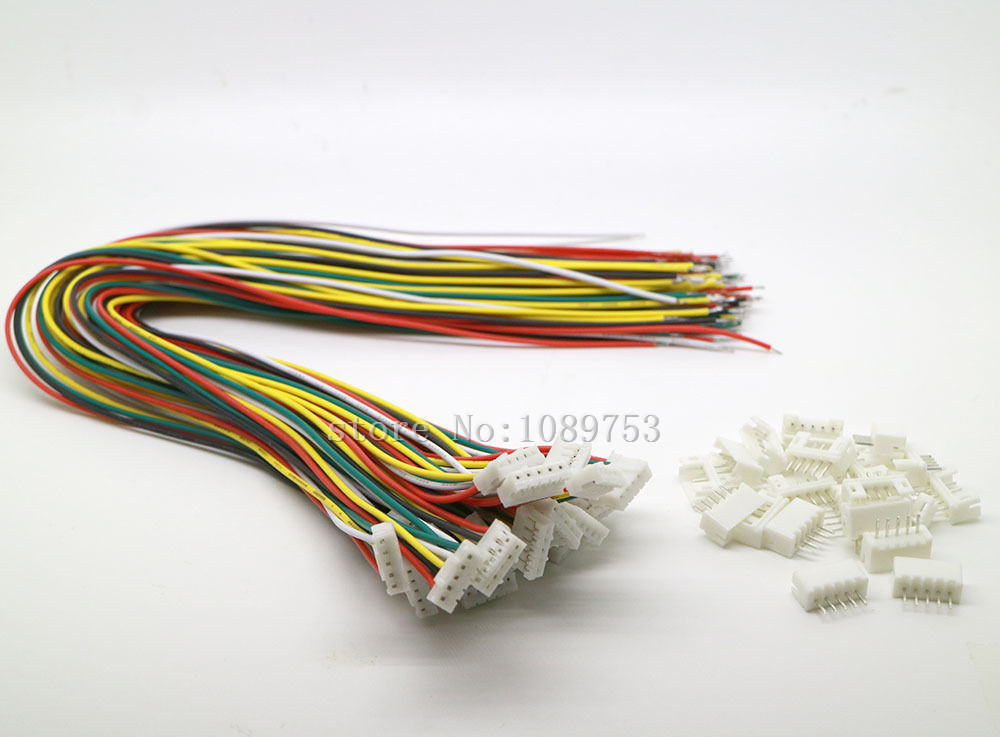 100 SETS Mini Micro JST 2.0 PH 5-Pin Connector plug with Wires Cables 300MM 20 sets mini micro jst 2 0 ph 7 pin connector plug with wires cables 100mm 10cm