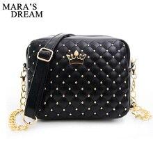 Mara's Dream Маленькая женская сумка модная сумочка с короной мини-сумка на плечо с заклепками женская сумка-мессенджер горячая распродажа