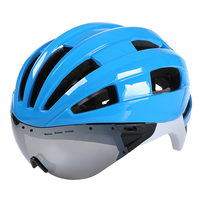 Glasses Cycling Helmet Road Mountain MTB Goggles Bicycle Helmet Ultralight Aerodynamics Casco Ciclismo IN-MOLD Bike Helmet mountain dh cycling helmet mtb down hill bicycle helmet ultralight women men in mold bike helmet casco ciclismo m l size