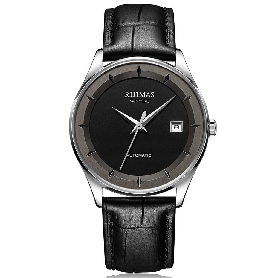 56aba34c6b2 RUIMAS Homens Simples Relógio de Couro Clássico de Negócios de Moda ...