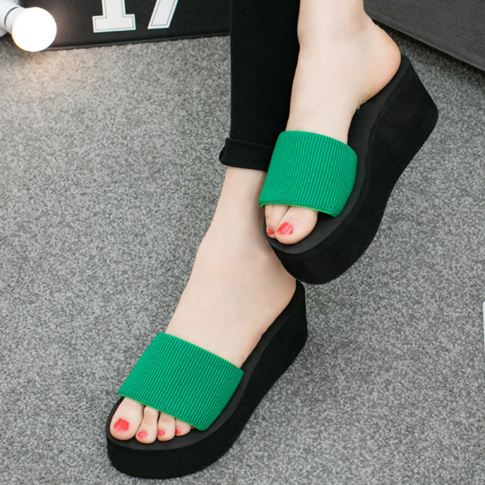 Sleeper #401 2019 NEW Women Summer Sandals Slipper Indoor Outdoor Flip-flops Beach Shoes With Platforms unique hot Free Shipping