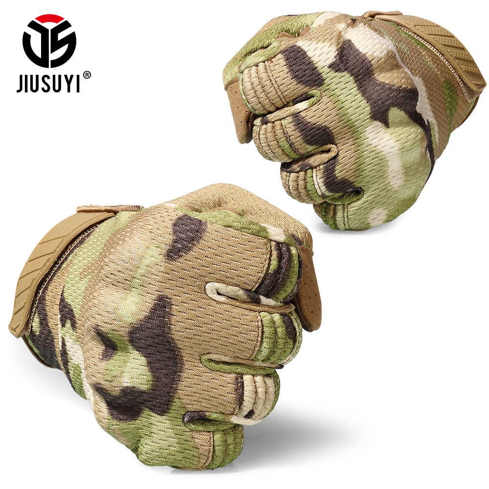 Тактический сенсорный экран полный палец перчатки джунгли Пейнтбол Стрельба, страйкбол легкий дышащий защита с твердыми костяшками шестерни