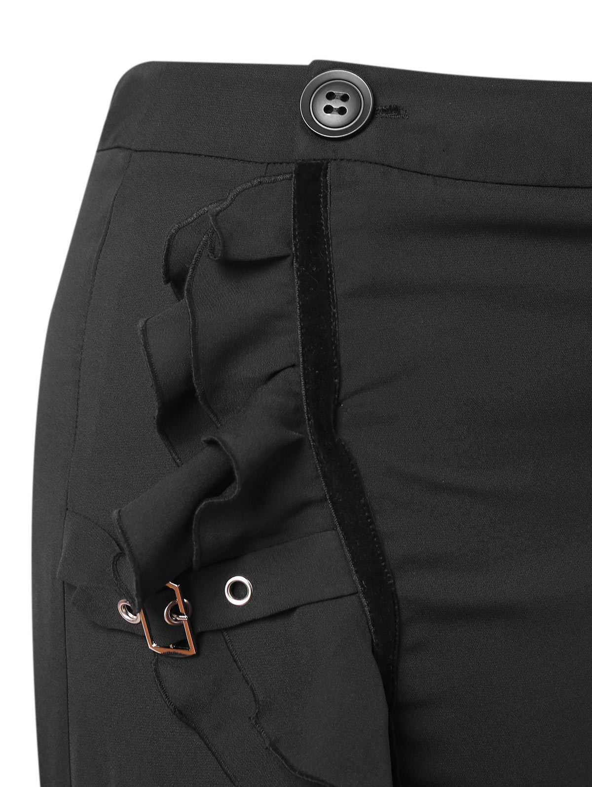 b18916baee8 Wipalo Plus Size High Low Flounce Skirt Women Fall Spring Black Buckle  Asymmetrical Skirts Casual Skirt Big Size Women Bottoms-in Skirts from  Women s ...