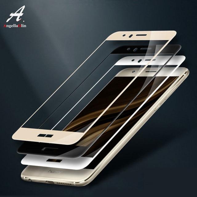 Completo cubierta de vidrio templado para Huawei P8 P9 P10 lite 2016 2017 Honor 9 Mate Pro Nova 2i P funda protectora de pantalla inteligente Y6