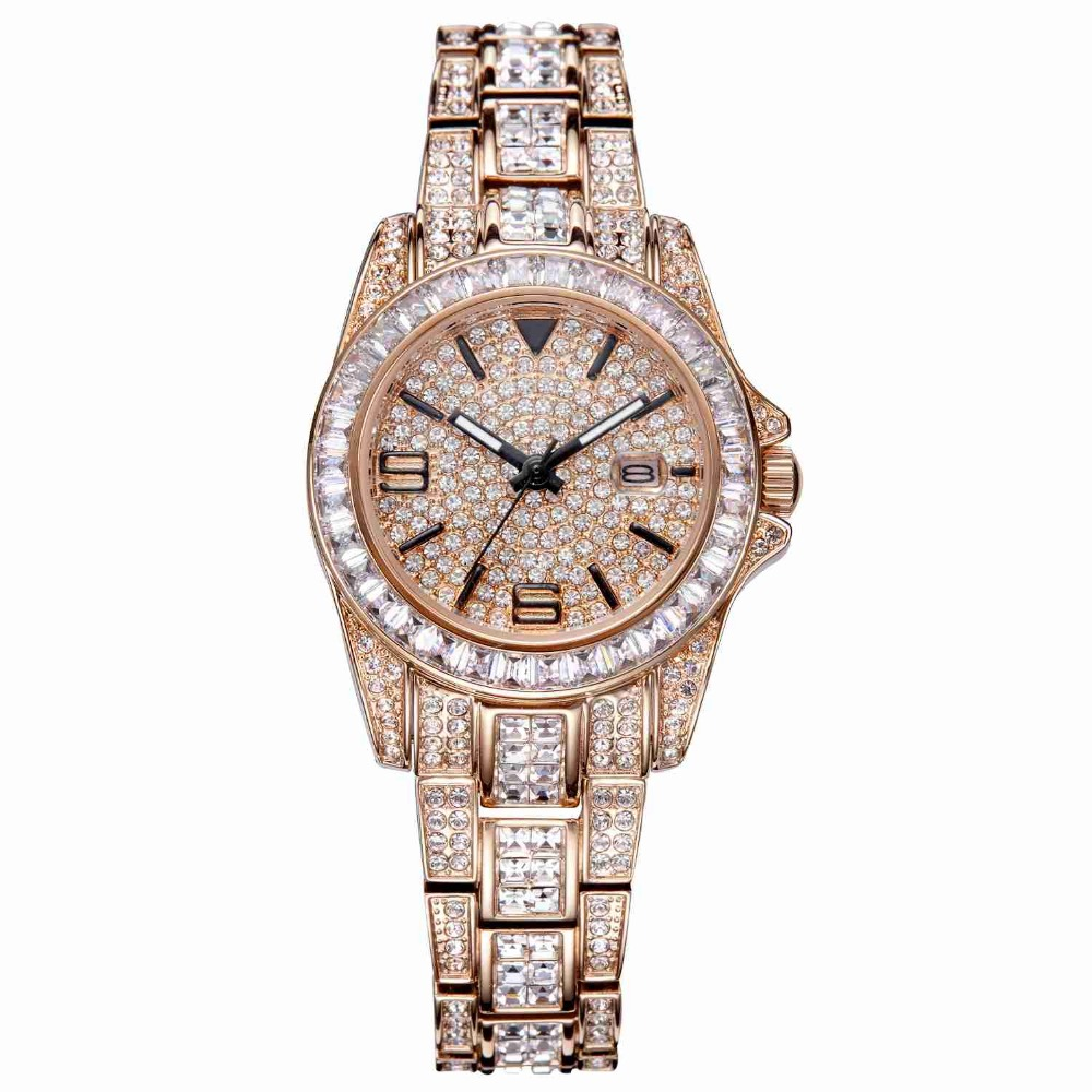 MATISSE Lady Austria Full Crystal Dial & Strap With Calendar Fashion Quartz Watch - Rosegold free shipping 100% tested for tcl washing machine board xqb55 51sz motherboard ncxq 9688 on sale