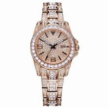MATISSE Lady Austria Full Crystal Dial & Strap With Calendar Fashion Quartz Watch – Rosegold