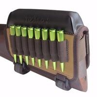 Tourbon Hunting Gun Accessories Rifle Gun Buttstock Cheek Riser Rest Pad Canvas Cartridges Ammo Holder Left Handed for Shooting