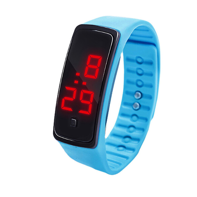 2018 New Fashion Children's Watches LED Digital Display Bracelet Watch Students Silica Gel Sports Wristwatch Gifts Drop Shipping