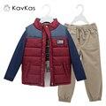 Kavkas kids boy ropa roupas infantis menino 3 unids/set otoño que arropan los sistemas de los niños ropa de niño de invierno de regalo de navidad